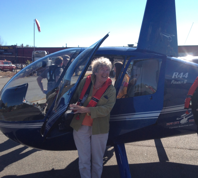 This great-grandmother just had a fantastic helicopter tour of Graves Light with NowCityTours.com.