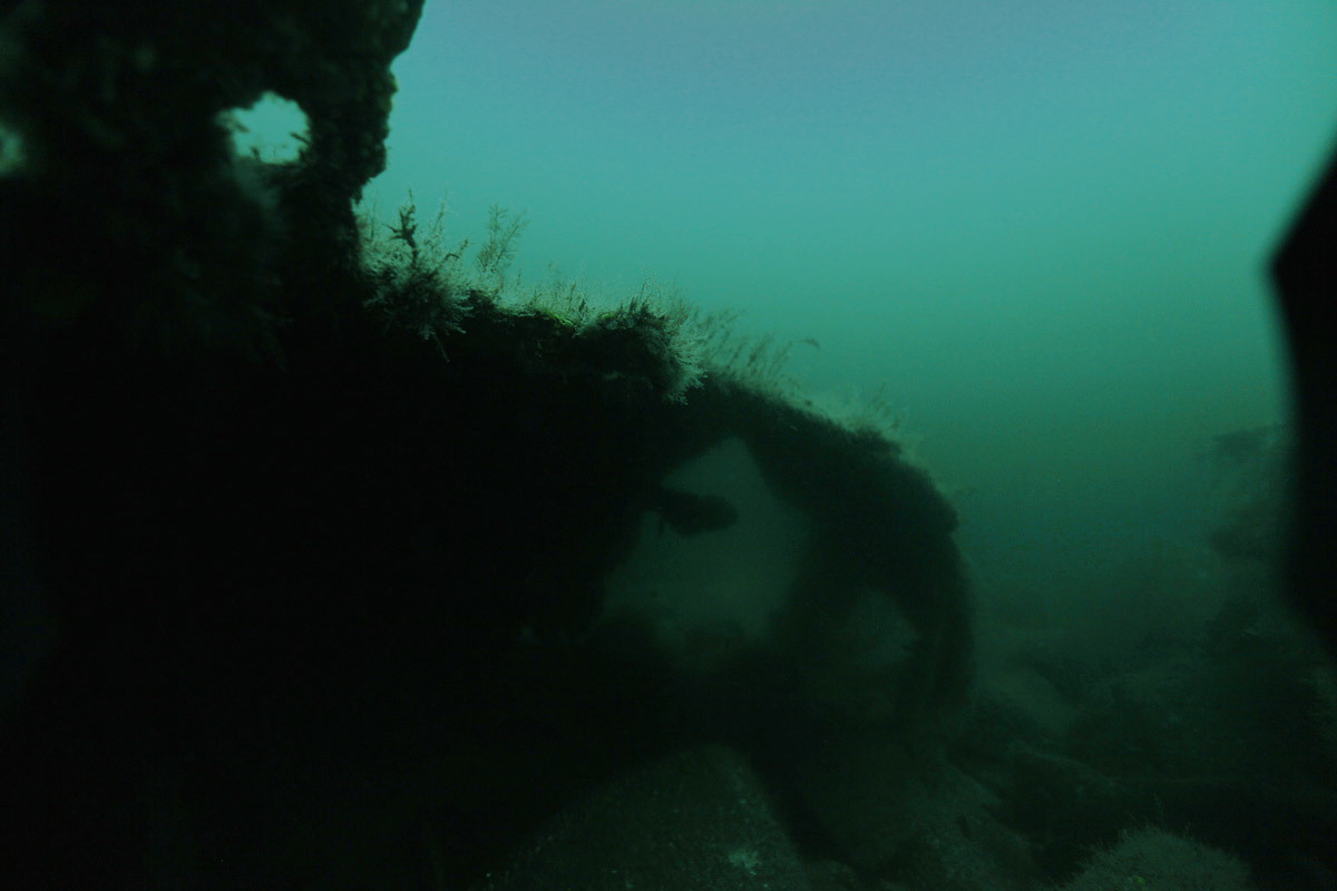 SS City of Salisbury wreckage at bottom of Boston Harbor, May 23, 2014.