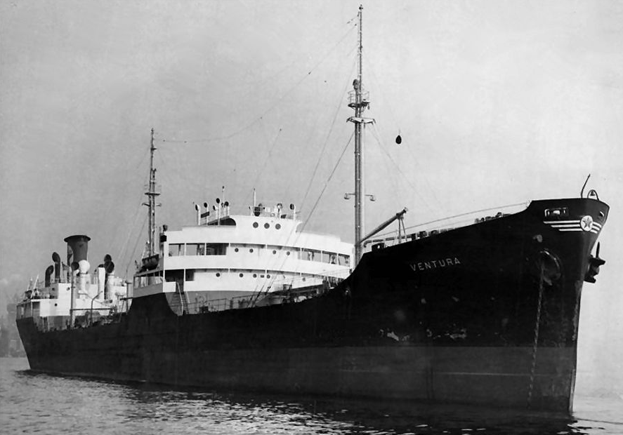 The Ventura's huge bow struck the aft of the trawler Lynn.