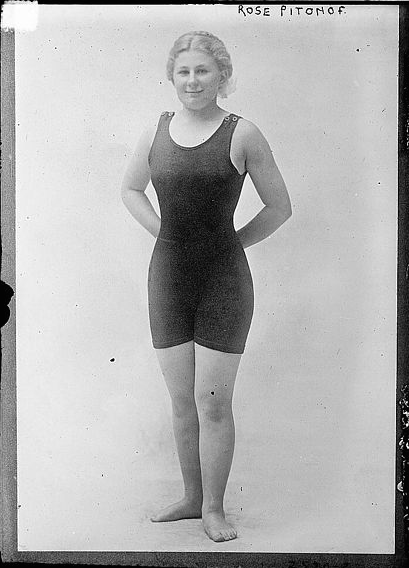 Rose Pitonof, in her swimsuit. (Photo via Wikipedia)