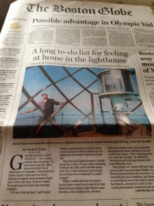 Good news on the front page of the Boston Globe.
