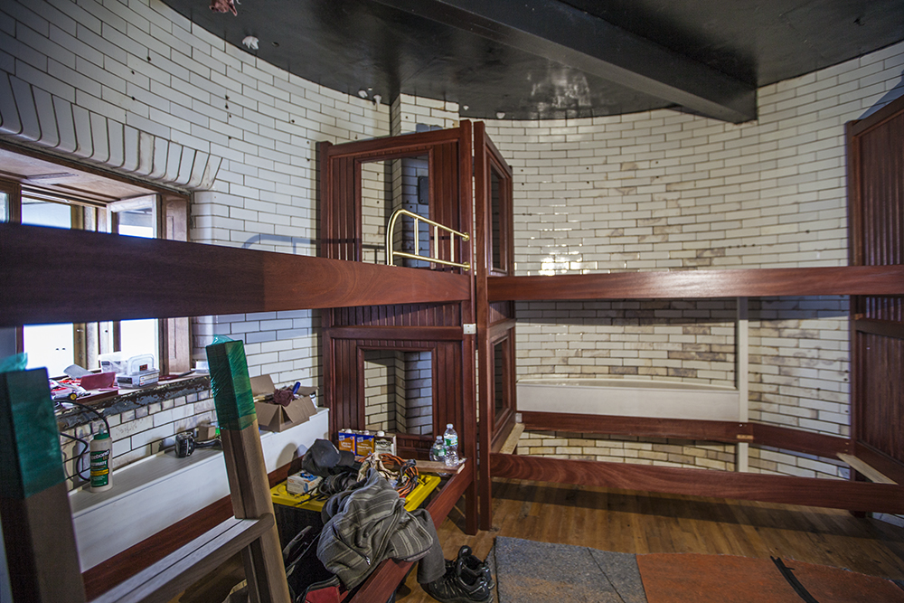 First look at the new Bunk Room at Graves Light, June 2015.
